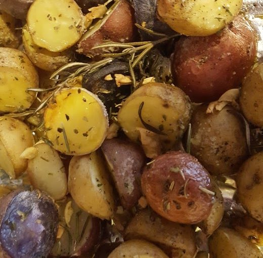 Roasted Garlic and Rosemary Little Potatoes