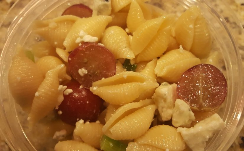 Garlic Blue Cheese and Grape Pasta Salad