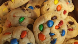 Gourmet M&M and Chocolate Chip Sugar Cookies